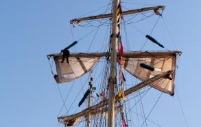 Folk i master ved Tall Ships Race 2013