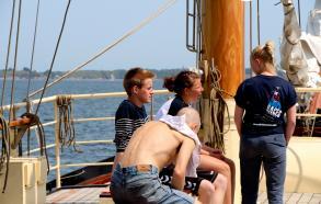 Besætning på dækket